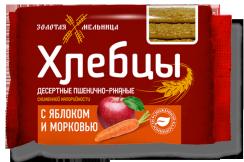 Хлебцы с яблоком и морковью